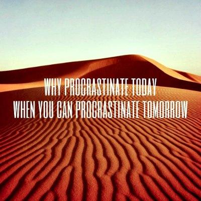 procrastinate meaning